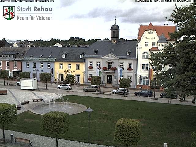 Webcam am Maxplatz der Stadt Rehau
